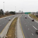 Westbound Highway 417 towards St-Laurent Exit