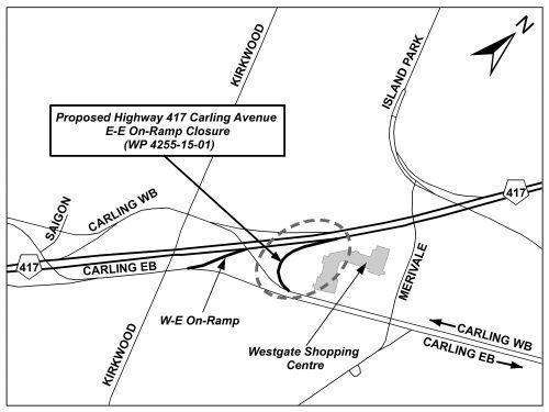 Hwy 417 Carling EE ramp - Key Map - ENG PIC 2